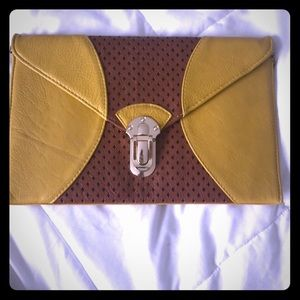 Handbags - Clutch with detachable gold chain